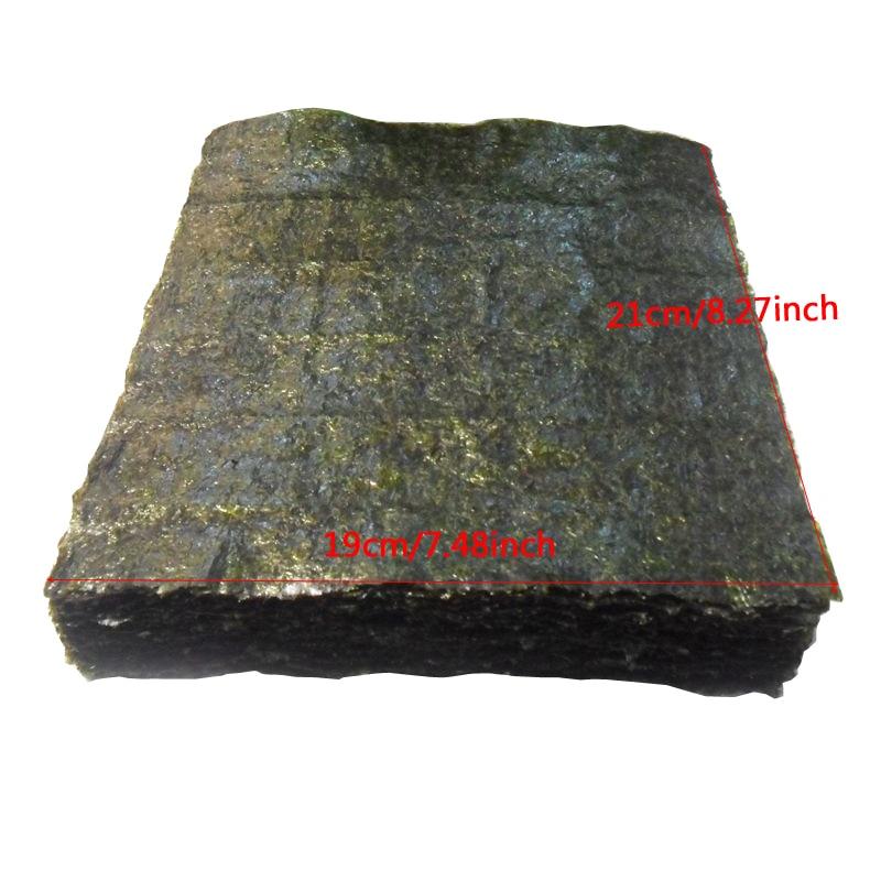 50-100 шт. суши нори морские водоросли, оптовая продажа с фабрики, качество AAA, темно-зеленая вторичная выпечка Нори Суши алгуны, Самые продаваемые суши-4