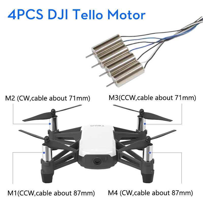 DJI RYZE Tello Drones Motor Engine Repair Parts 4Pcs 1set Remote Control Folding Toy FPV RC Quadcopter Component