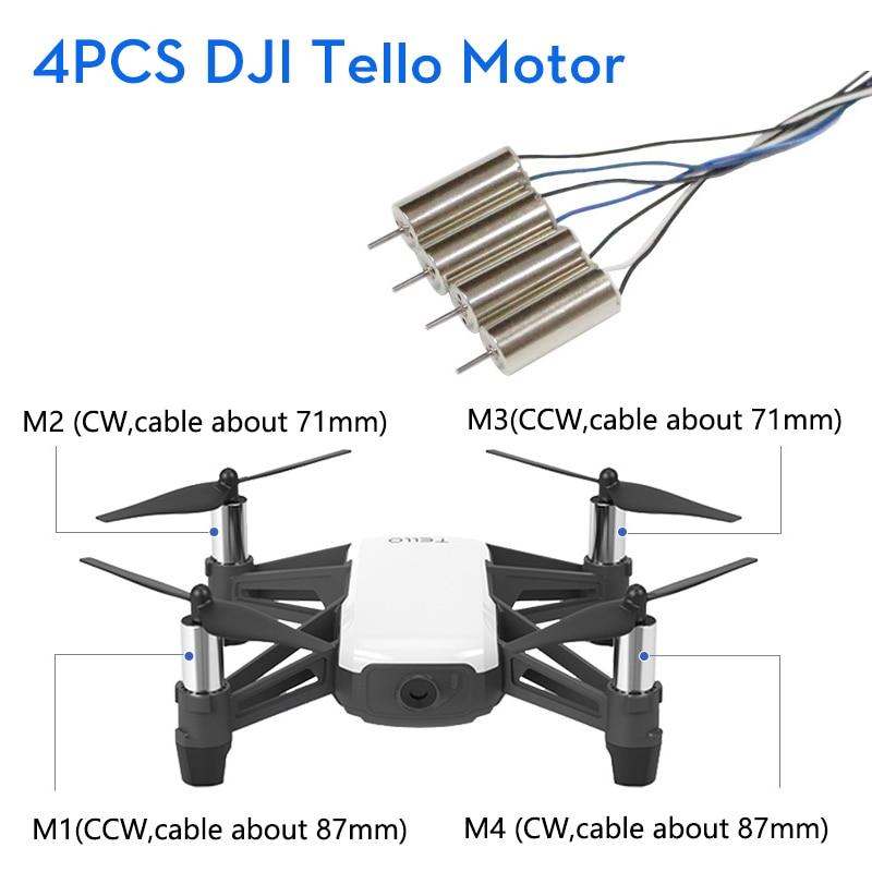DJI RYZE Tello мотор для дрона Запчасти для двигателя 4 шт. 1 комплект пульт дистанционного управления складная игрушка FPV Радиоуправляемый квадро...