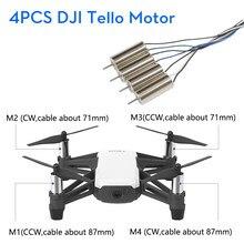 DJI RYZE – pièces de réparation de moteur de Drones Tello, 1 ensemble de 4 pièces, télécommande, jouet pliant FPV RC Quadcopter