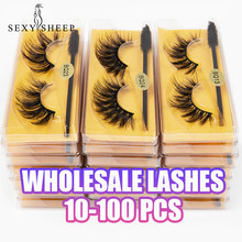 Atacado cílios 5/10/20/30/50/100/pçs 3d vison cílios naturais cílios postiços maquiagem extensão cílios em massa atacado