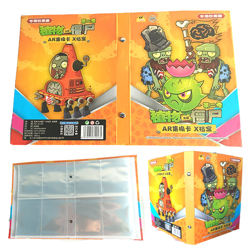 160Pcs Holder Album Toys Collections Plants Vs. Zombies PVZ Cards Album Book Top Loaded List Toys Gift For Children