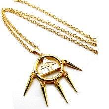 Yami Bakura Ryo Millennium Puzzle Gold Wheel Wisdom Necklace Fans Pendant Jewelry Gift