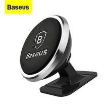 Baseus Magnetic Car Phone Holder For iPhone 11 Pro Samsung Universal Magnet Mount GPS Stand Car Holder Cell Mobile Phone Stand(China)