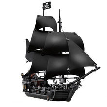 Black Pearl Ship Compatible with Pirates Ships 4184 4195 Caribbean Model Building Blocks with Figures Birthday Gifts Kids Toys