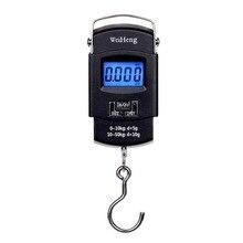 50 кг 10 г Электронные портативные цифровые весы, крючок для рыбалки, путешествий, Двойная точность, весы для багажа, весы, весы