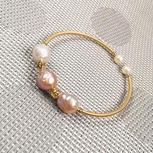 Новый пресноводный 100% натуральный белый жемчужный браслет