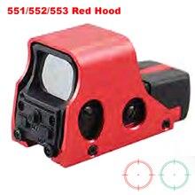 Caza táctico Riflescope 551, 552 de 553 holográfica vista de punto rojo Brigthness ajustable rojo y Color arena opcional