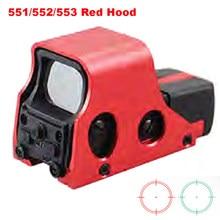 Lunette de chasse tactique holographique, 551 552 553, luminosité de la vue, point rouge, réglable, couleur rouge et sable en option