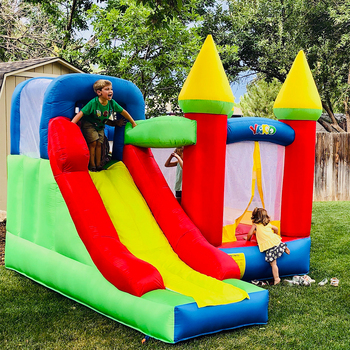 Yard Inflatable Bounce House Castle Jumper Moonwalk Bouncer Kids Jumping Castle Children's Inflatable Trampoline Best Stay Home цена 2017