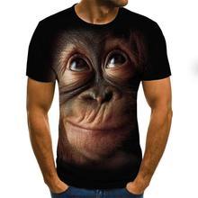 Орангутанг узор 3D футболка короткий рукав мужчины% 27 лето мода топ животное принт 3DT рубашка мужчины% 27 одежда
