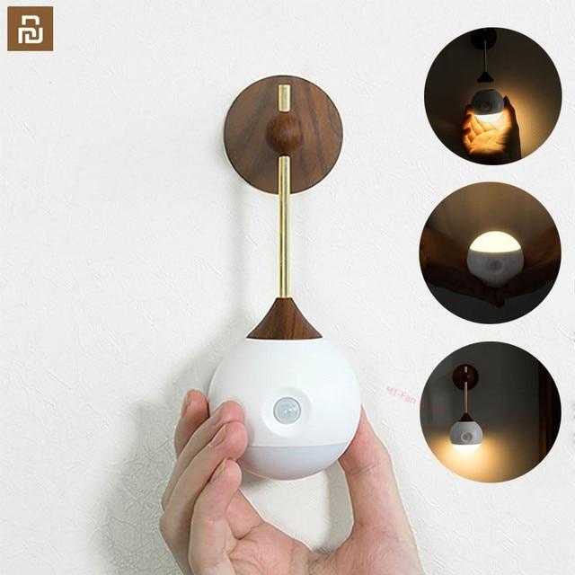 Youpin Sothing słoneczny inteligentny czujnik noc światło podczerwone indukcyjna USB ładowania wymienny lampka nocna dla inteligentnego domu #