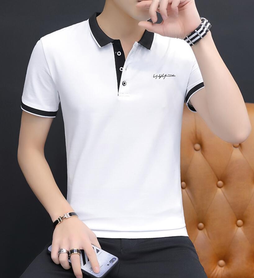 YQ185 2019 nouveau été vêtements hommes Polo chemise hommes affaires décontracté solide mâle coton polo chemise été à manches courtes hommes