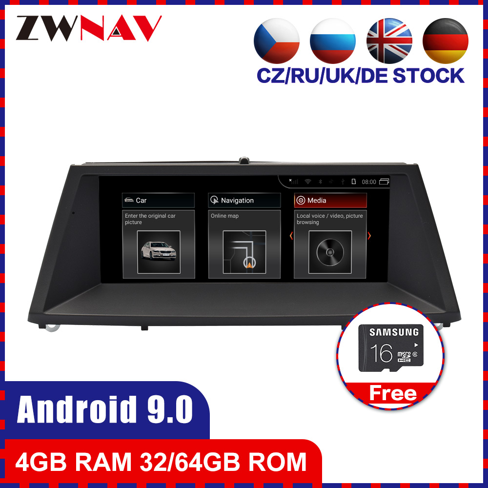4+64 Android 9.0 Car multimedia Player GPS Audio for <font><b>BMW</b></font> <font><b>X5</b></font> <font><b>E70</b></font> F15 F85 X6 E71 F16 F86 2010+ car radio stereo head unit free map image