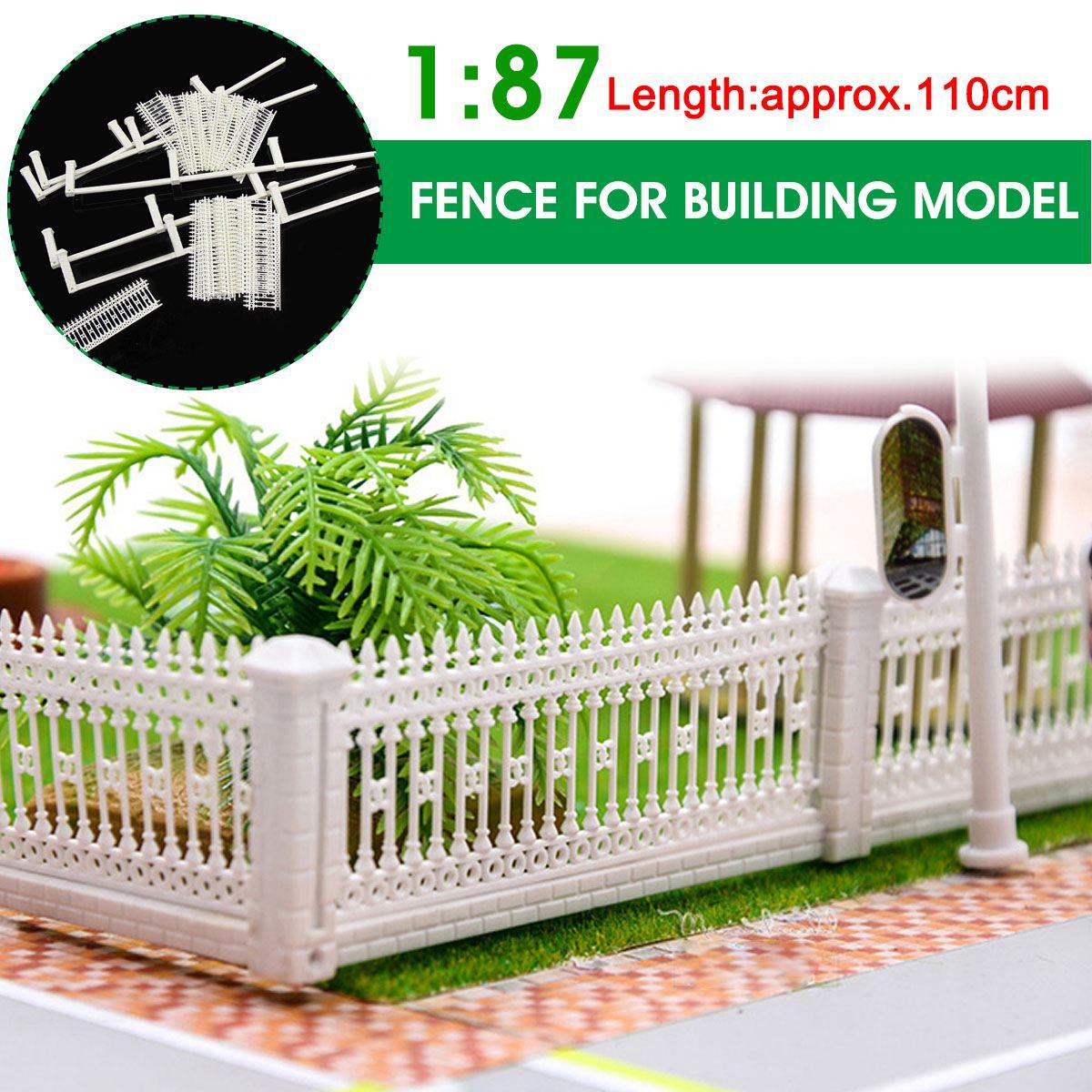 LBLA 1:87 Scale Model Train Truck Railway Building Fence Wall HO Z Scale 110cm DIY Building Sand Table Model Detachable Kids Toy