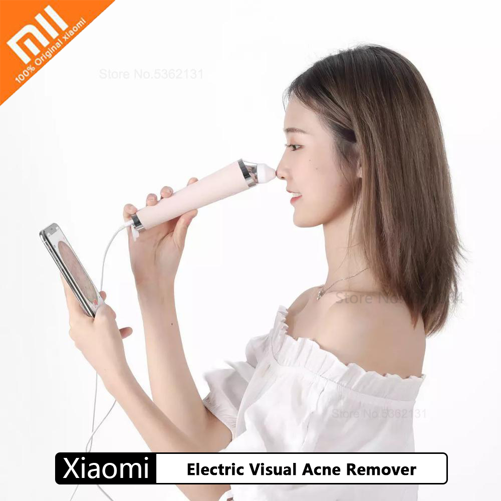 Xiaomi Electric Visual Acne Remover Blackhead Vacuum Suction Pore Cleaner Skin Care Facial Pore Cleaner Machine For Men Women