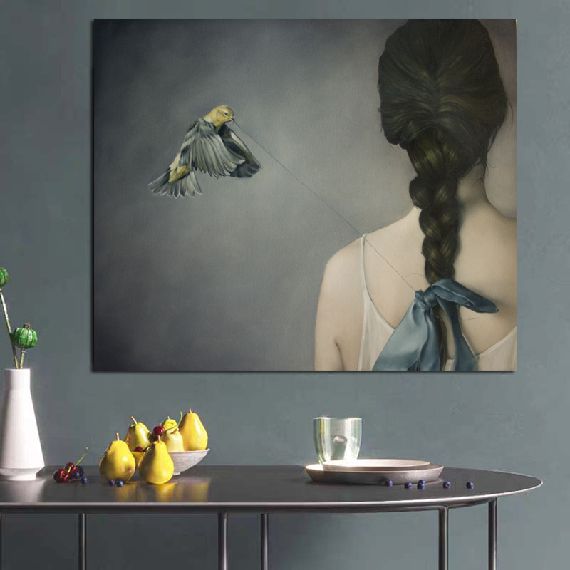 Europe Abstract Canvas Painting Woman Oil Painting Reproductions On Canvas Posters And Prints Wall Art Pictures For Living Room
