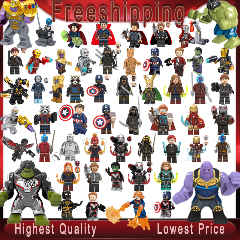 Marvel Legoed Super Heroes Minifigured Thanos Thor Rocket War Machine Ant Man Iron Man Captain America Hulk Children Toys Gifts