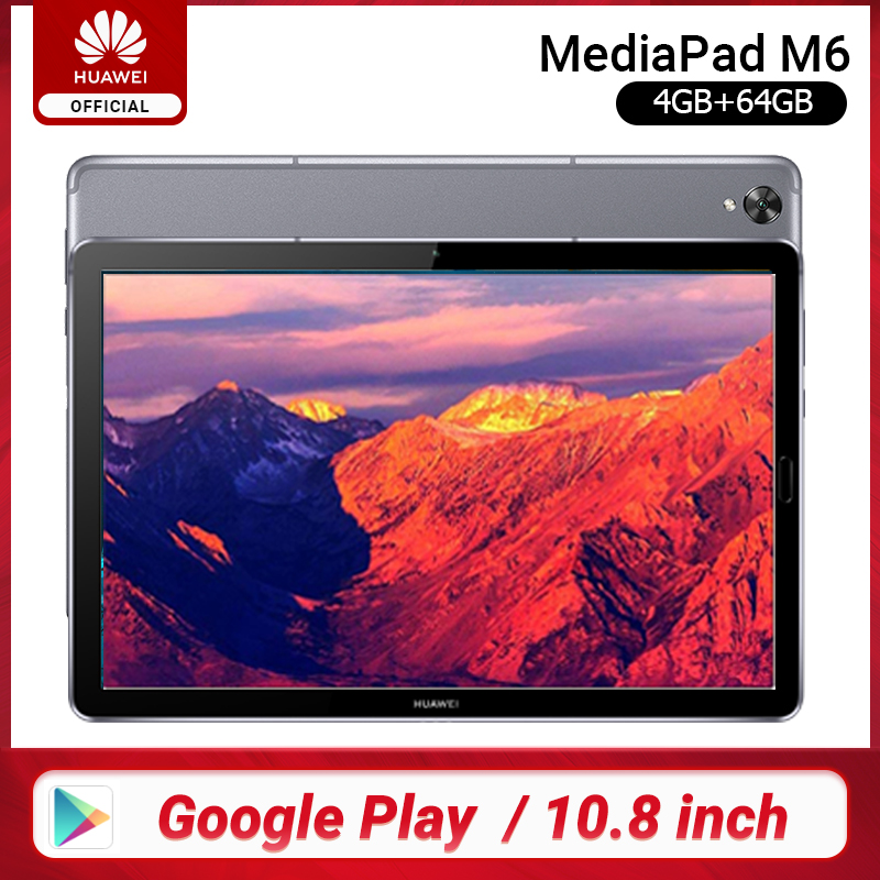 Original Huawei Mediapad M6 10.8 inch 4GB 64GB WIFI LTE Kirin 980 Octa Core Android 9.0 Tablet Type-C Google play GPU Turbo 3.0