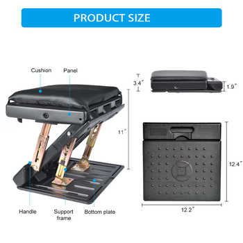 4-Level Height Adjustable Footrest with Removable Soft Foot Rest Pad Max-Load 120Lbs for Car,Under Desk, Home, Train ,Adjustment