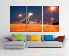 Modern Colorful Photo Picture Bridge City Room Road Decor Cities Canvas Art Painting Living Bedroom