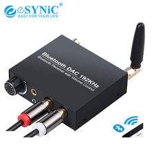 ESYNiC 192kHz Bluetooth cyfrowy na analogowy konwerter DAC Adapter z kontrolą głośności RCA 3.5mm Jack wyjście dla Tablet z funkcją telefonu