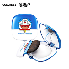 COLORKEY Doraemon Face Pressed Powder Oil Control Brighten Concealer Smooth Finish Waterproof  Makeup Foundation Anime Cosmetic