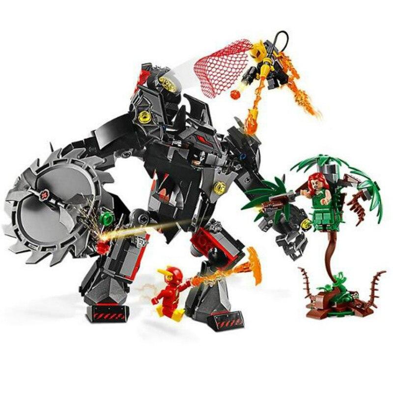 Bela 11234 batman mech contra veneno ivy mech dc super herói bloco de construção tijolos brinquedos compatíveis com filme 76117
