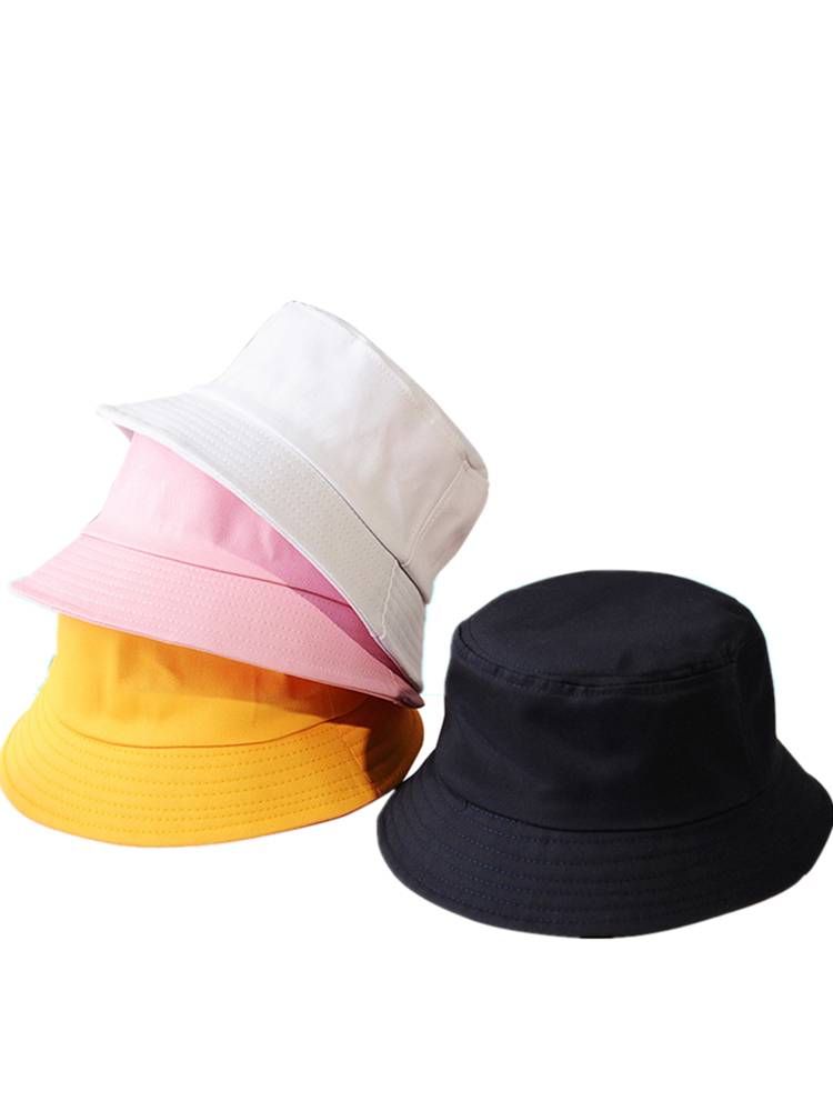 Fisherman Hat Bucket-Hats Sunbonnet Panama-Hat Fedoras Sunscreen Beach-Cap Outdoor Cotton