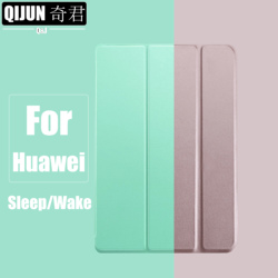 Coque avec rabat tripliable pour tablette Huawei MediaPad T5, 10.1 pouces, pour modèle AGS2-W09/L03/L09, avec protection solide