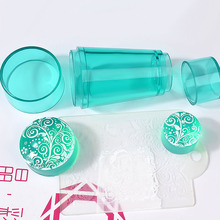 3 Colors Transparent Double-head Silicone Stamper Seal With Cover Nail Stamping Kit Nail Art Stamp Scraper Template DIY Stamping недорого