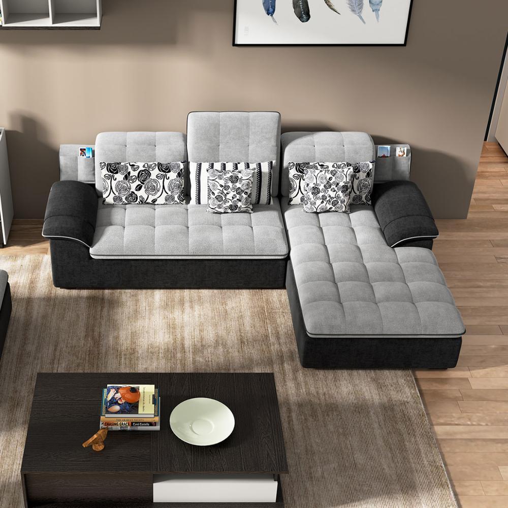 Galleria fotografica Su misura di alta qualità mobili soggiorno divano del soggiorno set divano in tessuto