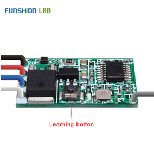 Image 2 - FUNSHION Universal Wireless 433 Mhz DC 3.6V 24V Remote Control Switch 433Mhz 1 CH RF Relay Receiver LED Light Controller DIY Kit