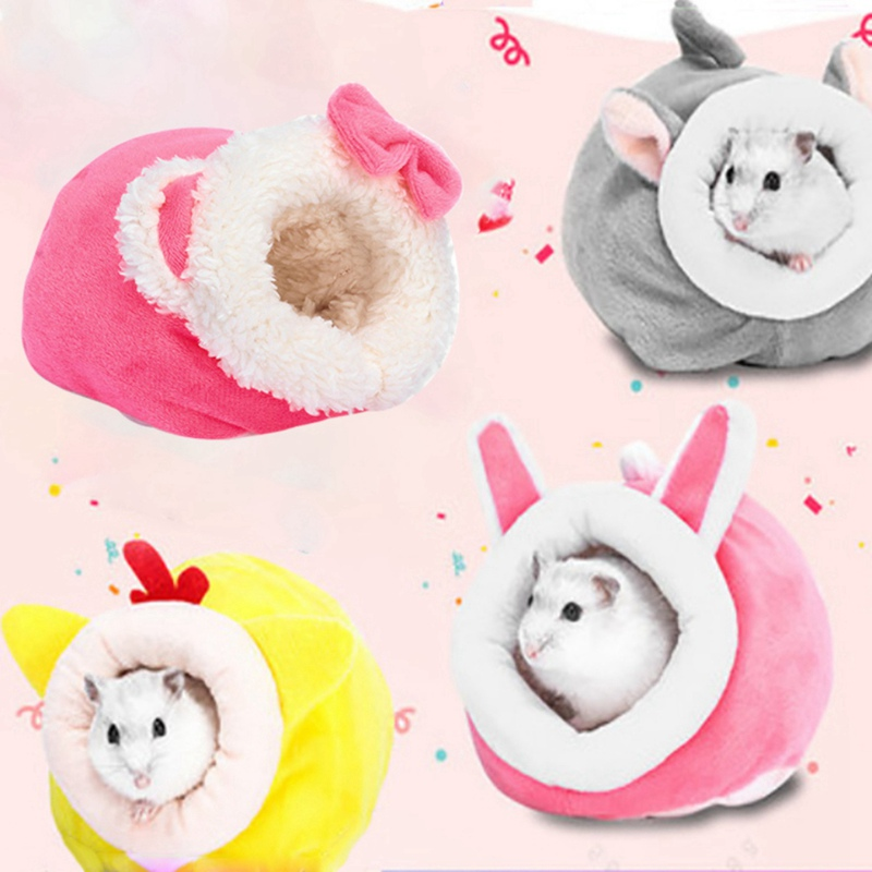 Soft Cotton Guinea Pig House Bed Cage For Hamster Mini Animal Mice Rat Nest Bed Hamster House Small Pet Products