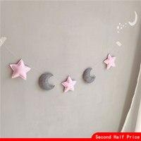 Декор для детской комнаты, детский бампер для новорожденных, луна, звезда, настенный шатер, украшение, детская спальная кроватка, комплекты ...