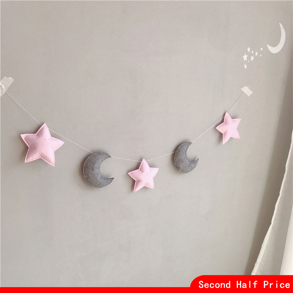 Baby Room Decor Baby Bumper For Newborns Moon Star Shaped Wall Hanging Tent Decoration Infant Sleeping Cot Bedding Sets New