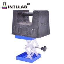 """Support de plate forme de levage de laboratoire, support ciseaux, Jack de laboratoire, 100x100mm ( 4 """"x 4""""), en plastique et acier inoxydable résistant"""