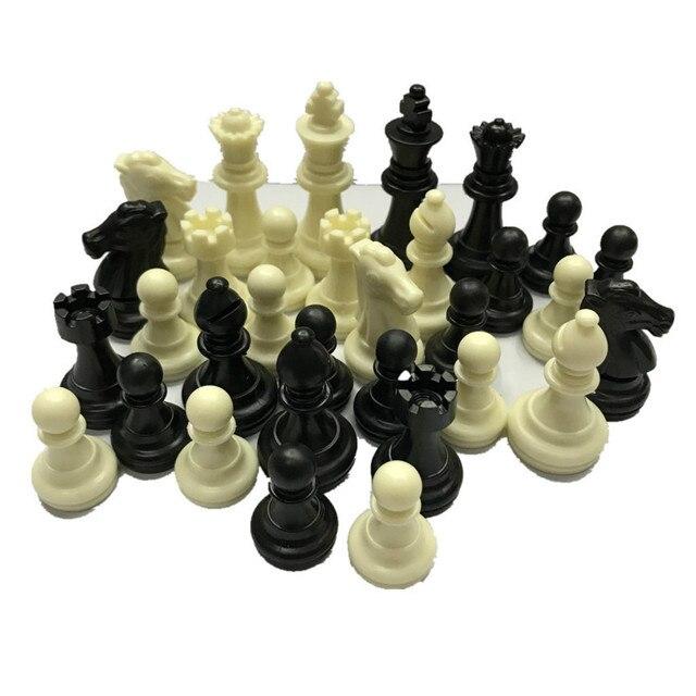 Ensemble de figurines d'échecs en plastique de 49mm de haut, environ 80 grammes, sans plateau 2
