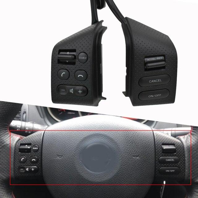 Bingwfpt para n issan livina & tiida & s ylphy acessórios do carro botões de controle do volante do carro botões interruptor função