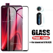 Capa protetora 2 em 1 para smartphones, vidro protetor 2 em 1, para xiaomi mi, 9t, cc9, k20, pro, protetor para câmera, tela, filme de vidro temperado para lentes para xiaomi mi cc9 mi9t k 20