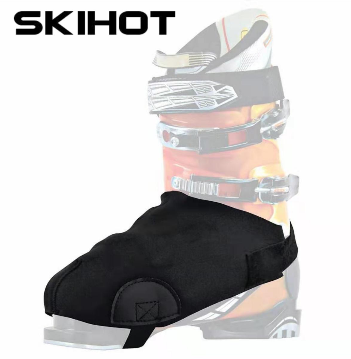 SKIHOT ouble Лыжная обувь водонепроницаемая теплая крышка для обуви черная защита для снега