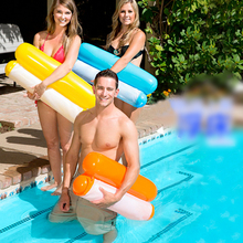 New Summer Floating Water Hammock Float Lounger Inflatable Floating Bed Beach Swimming Pool Lounge Float Bed Chair Kids Adults hewolf new summer beach swimming pool float mattress inflatable pineapple lounge seat raft floating bed air mat water game toy