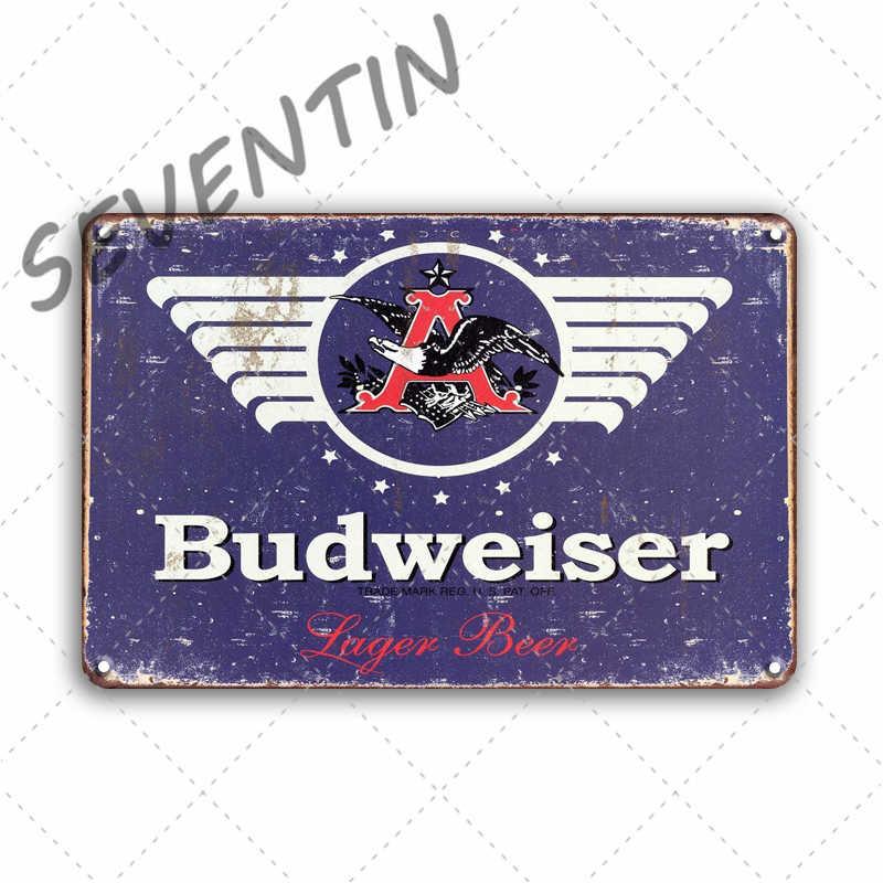 Piwo metalowa tablica znaki Vintage Peroni Bacardi metalowy plakat dekoracyjny znak Bar Retro wystrój pubu metalowe płytki dekoracje ścienne do domu