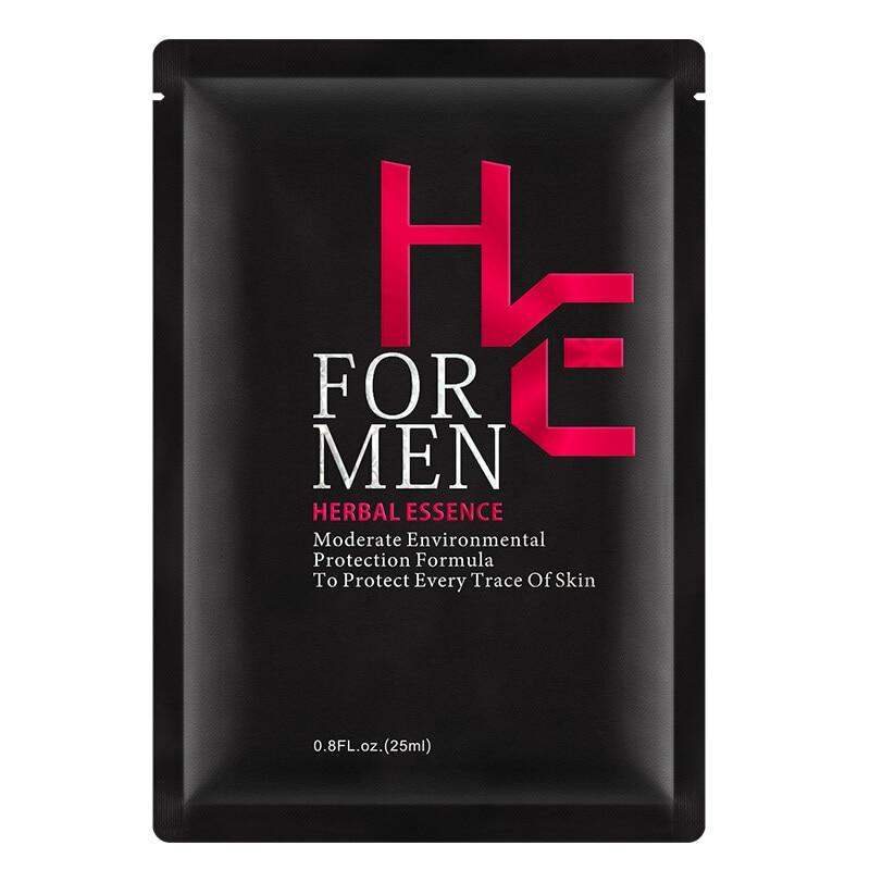 Hearn Men's Mask Essence Hyaluronic Acid Skin Care Deep Cleansing Pore Control Oil Whitening Moisturizing Mask