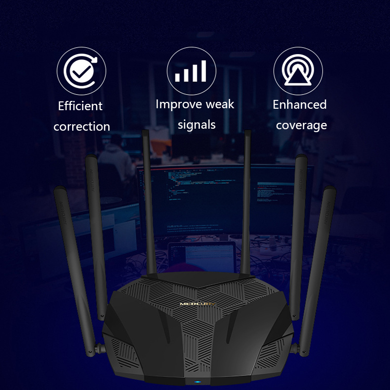 Wireless WiFi Router Dual-band Gigabit Home High Speed WiFi High Gain Antennas Wider Coverage Easy setup 4
