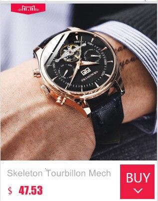 H1459ded1577143fa85a95d707ba36378D Skeleton Tourbillon Mechanical Watch Men Automatic Classic Rose Gold Leather Mechanical Wrist Watches Reloj Hombre 2018 Luxury