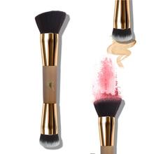 цена на Powder Brush Double Head Blush Foundation Blending Makeup Brush Contouring Brush Professional  Makeup Brushes  D05