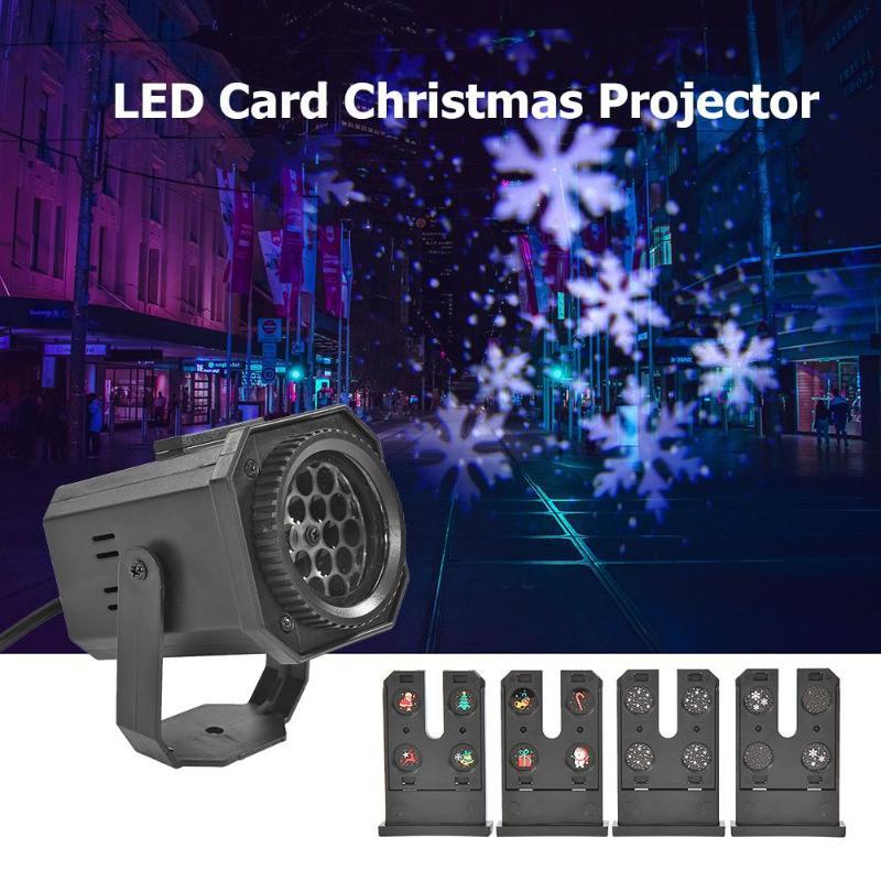 Image 3 -  グループ  AliExpress上の クリスマスパターン LED レーザープロジェクターカラフルな回転ステージプロジェクターライト DJ ディスコランプ Ktv パーティーのために結婚式バーホーム