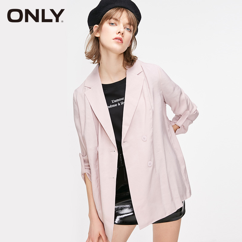 ONLY Women's Loose Fit Double-breasted Suit Jacket |119108548