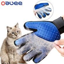 Luva de escova para remoção de pelos, luva de massagem eficaz para as costas, cachorros e gatos, luvas para remoção de pelos